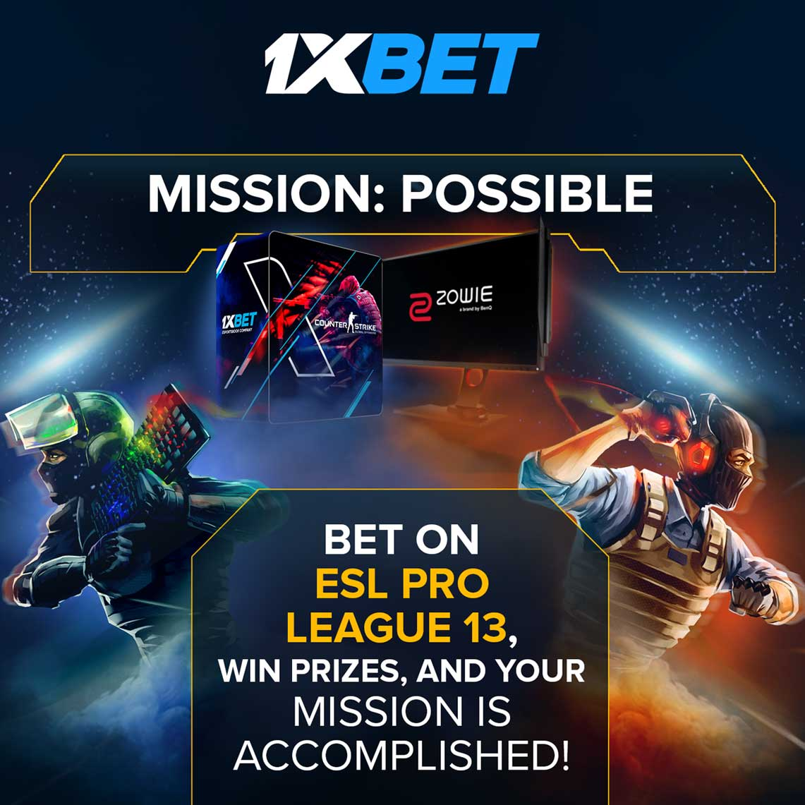1xBet launches partnership campaign for ESL Pro League with top prizes