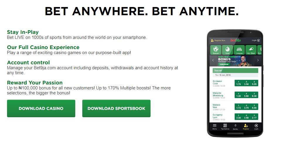 Bet9ja Casino app