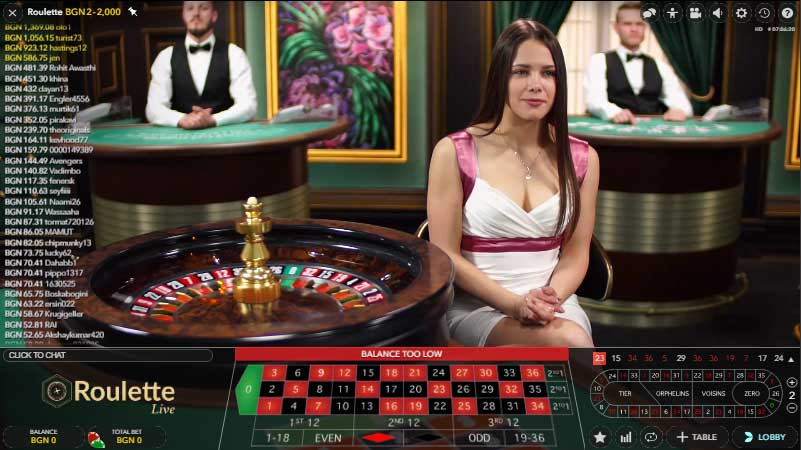Efbet Live Roulette