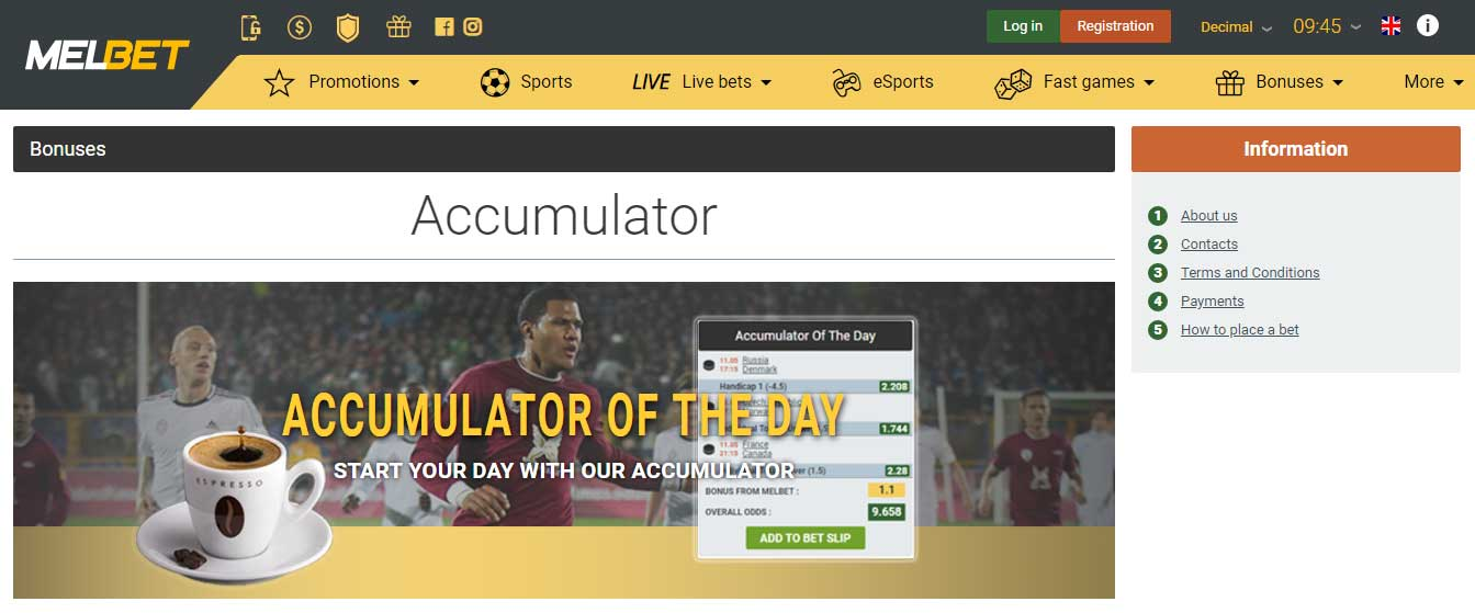 Melbet Accumulator